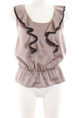 Pepaloves Rüschen-Bluse bronzefarben-schwarz Elegant