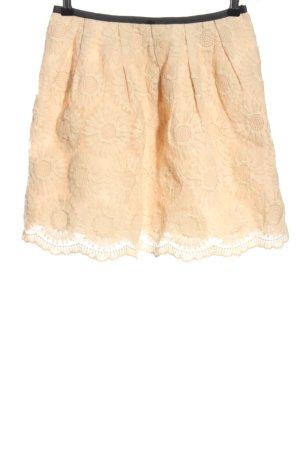 Pepaloves Kanten rok nude bloemenprint casual uitstraling