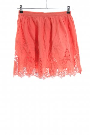 Pepaloves Lace Skirt red casual look