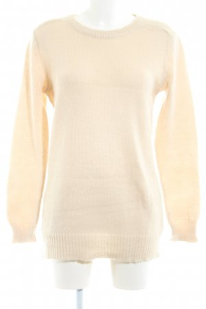 Pepaloves Strickpullover creme Casual-Look