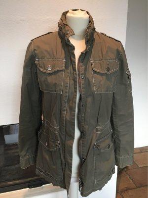 Pepe Jeans London Military Jacket khaki cotton