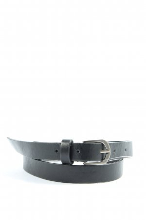 pepe jeana london Cintura in ecopelle nero-argento stile casual