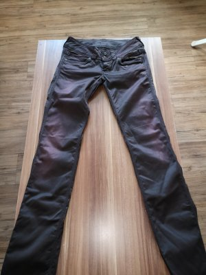 Pepe Jeans Low-Rise Trousers dark brown-blackberry-red