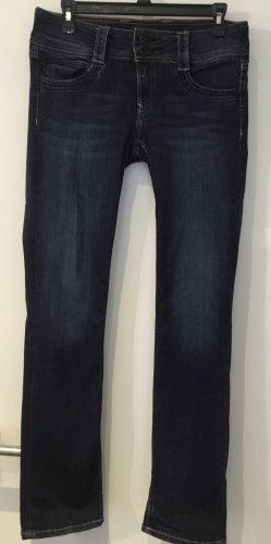 Pepe Jeans Jeans met rechte pijpen donkerblauw Katoen