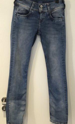 Pepe Jeans Jeans met rechte pijpen azuur Katoen