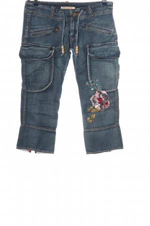 Pepe Jeans 3/4 Length Jeans blue flower pattern casual look