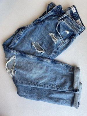 Pepe Jeans Spodnie typu boyfriend jasnoniebieski-niebieski