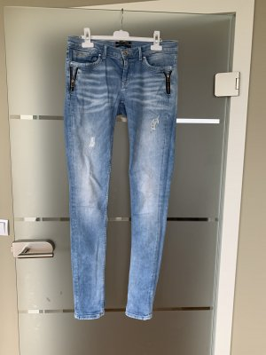 Pepe Jeans taille basse bleu azur