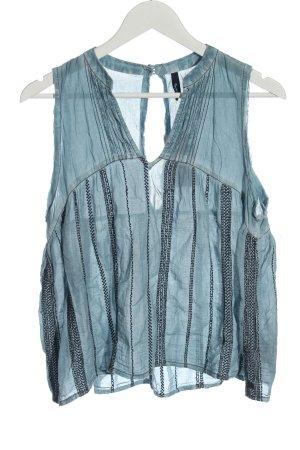 Pepe Jeans A-lijn top blauw-zwart gestippeld casual uitstraling