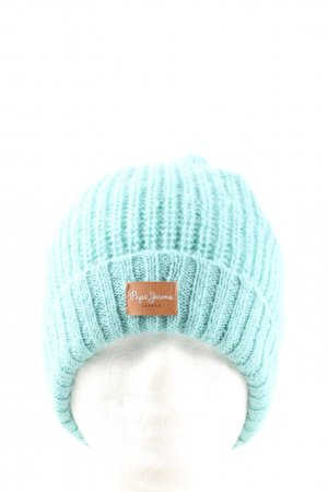 Pepe Jeans Beanie turkoois casual uitstraling