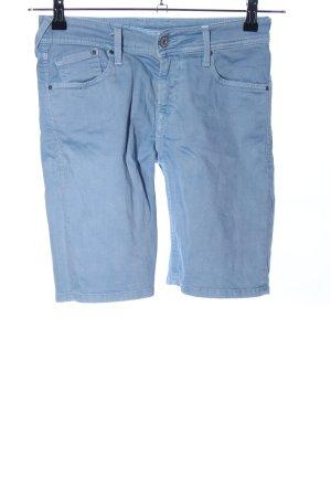 Pepe Jeans Bermuda blauw casual uitstraling