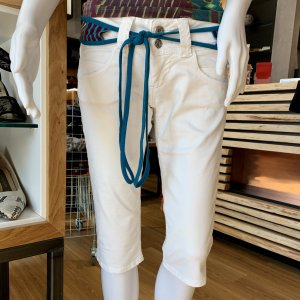 Pepe Jeans 3/4 Length Trousers white cotton