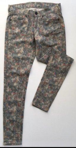 Pepe Jeans, Blumenmuster, bunt, Jeans, Röhrenjeans, Skinny