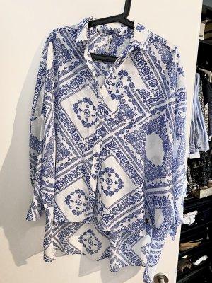 Pepe Jeans Blusa taglie forti bianco-azzurro