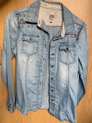 Pepe Jeans London Blouse en jean multicolore