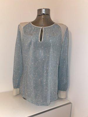 Pepe Jeans, Bluse, mint/graugrün mit Blumenmuster, Gr. M