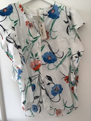 Pepe Jeans Bluse Top Baumwolle Mohnblume