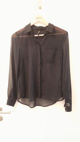 Pepe Jeans Bluzka z długim rękawem czarny-ciemnoniebieski