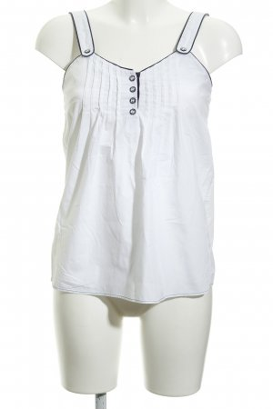 Pepe Jeans Blouse topje wit-donkerblauw casual uitstraling