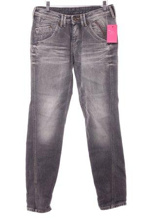 Pepe Jeans Boyfriendjeans grau-hellgrau meliert Casual-Look