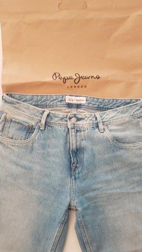 Pepe Jeans Jeansy typu boyfriend niebieski