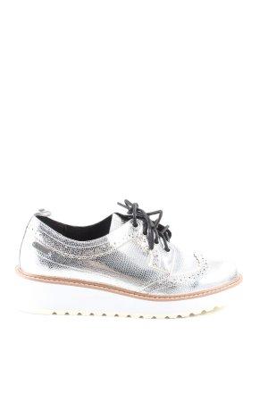 Pepe Jeans Budapest schoenen zilver dierenprint extravagante stijl