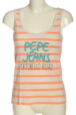 Pepe Jeans Podkoszulek na ramiączkach Wydrukowane logo W stylu casual