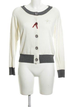 Pepe Jeans Cardigan creme-schwarz Business-Look