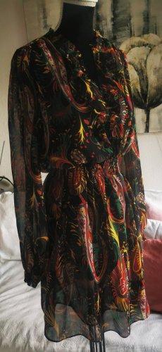 Pepe Jeans Chiffon-Kleid, M, mit Rüschen, bunt