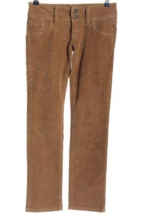 Pepe Jeans Pantalone di velluto a coste marrone stile casual