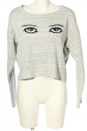 Pepe Jeans Cropped Pullover hellgrau meliert Casual-Look