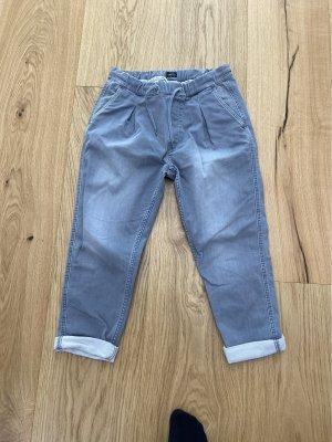 Pepe Jeans Spodnie typu boyfriend srebrny
