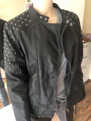 Pepe Jeans Giacca da motociclista nero Pelle