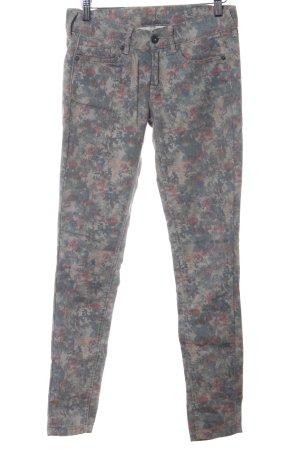 Pepe Jeans Five-Pocket-Hose Blumenmuster Casual-Look