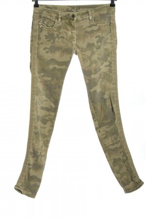 Pepe Jeans Five-Pocket-Hose khaki Camouflagemuster Casual-Look