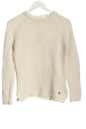 Pepe Jeans Pullover all'uncinetto bianco sporco punto treccia stile casual