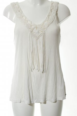 Pepe Jeans Top a uncinetto bianco sporco stile casual
