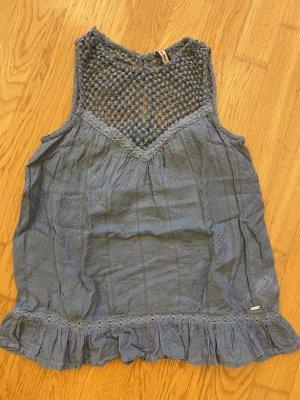 Pepe Jeans Crochet Top steel blue-azure