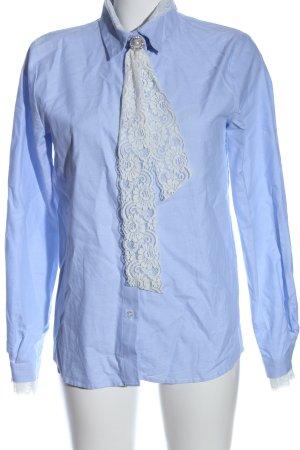 Pepe Jeans Hemd-Bluse blau-weiß Business-Look
