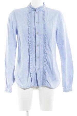 Pepe Jeans Hemd-Bluse kornblumenblau Casual-Look
