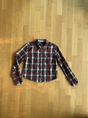 Pepe Jeans Blusa de manga larga azul oscuro-rojo Algodón