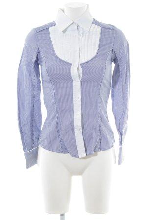 Pepe Jeans Hemd-Bluse weiß-stahlblau Streifenmuster Business-Look