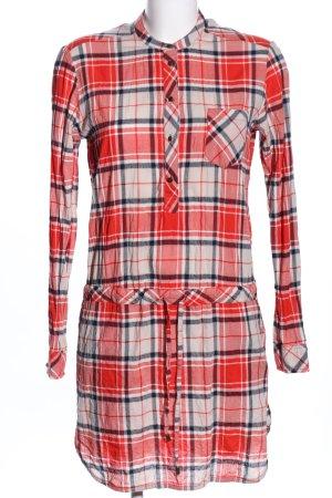 Pepe Jeans Abito blusa camicia rosso-bianco stampa integrale stile casual