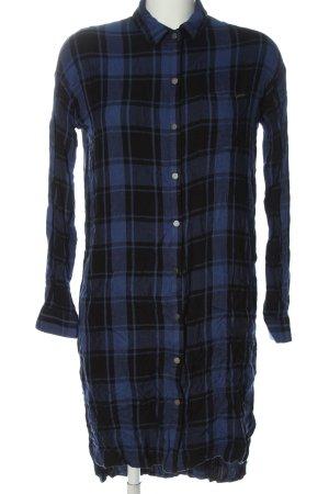 Pepe Jeans Robe chemise bleu imprimé allover style décontracté