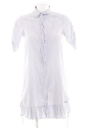 Pepe Jeans Abito blusa camicia bianco-grigio chiaro Cotone