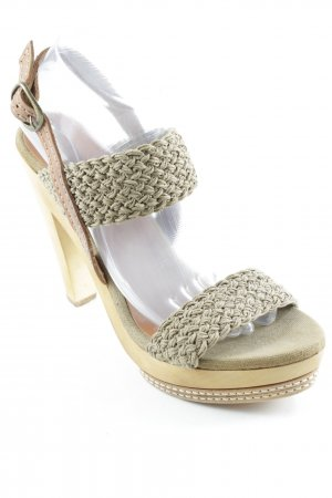 Pepe Jeans High Heel Sandaletten olivgrün-braun Casual-Look