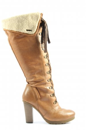 Pepe Jeans High Heel Stiefel braun Casual-Look