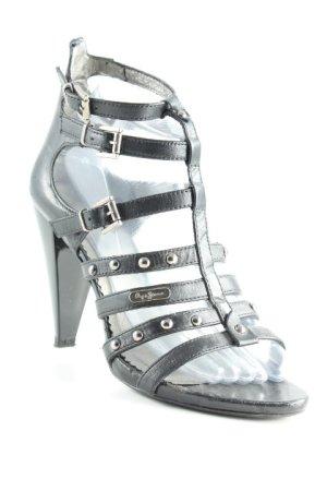 Pepe Jeans High Heels schwarz-silberfarben Elegant
