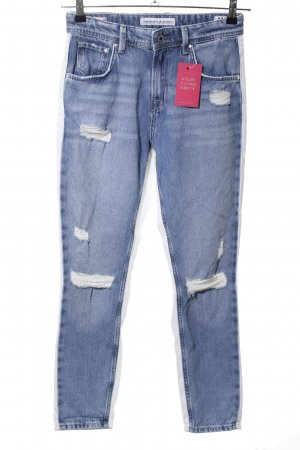 Pepe Jeans Hoge taille jeans blauw casual uitstraling