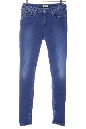 Pepe Jeans Hoge taille jeans blauw Gemengd weefsel